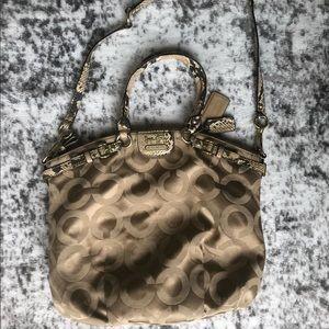 Coach OP Art Exotic Satchel Handbag